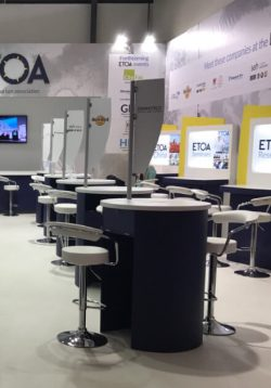 ETOA stand at ITB Berlin - standard desk