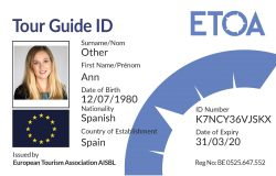 ETOA Tour Guide ID Card