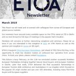 Newsletter ETOA March 2019