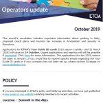 Operators Update October 219