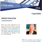 ETOA newsletter 9 April 2020