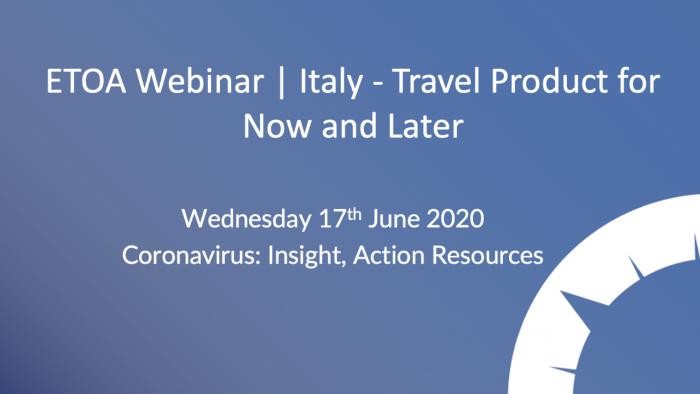 ETOA Webinar - Italy Product
