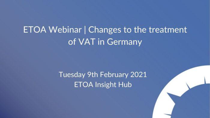ETOA Webinar - German VAT 9.2